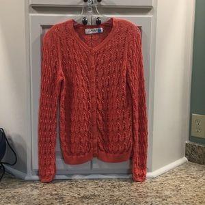 Anthropologie Sparrow orange sweater cardigan